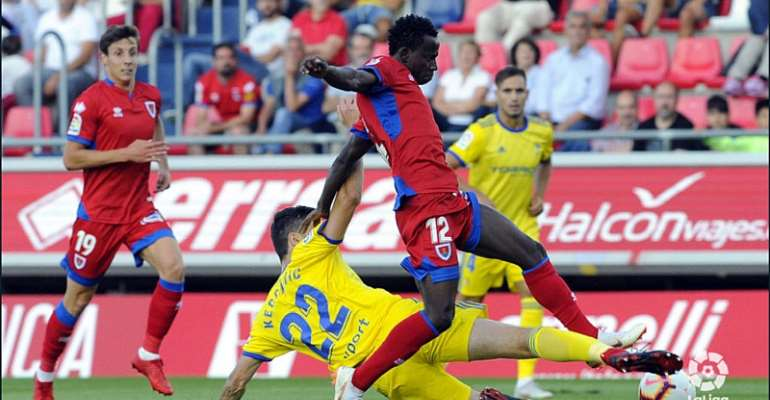 Yaw Yeboah Apologises To CD Numancia Fans For Stunning Defeat Against Almeria