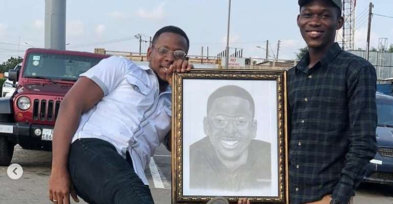 Ghanaian Pencil-Artist To Make Himself Timeless In His 'Letter To Opera Winfrey' Artwork
