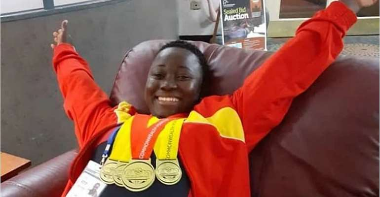 Ghanaian Power-Lifter Juliana Arkoh Claims Four Gold Medals In Canada