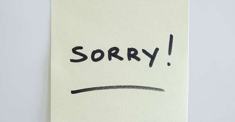 When You Are Sorry You Are Not Sorry