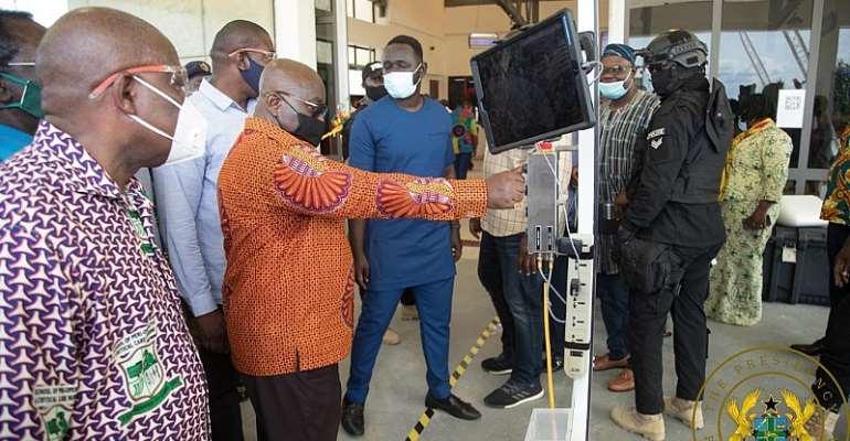 Akufo-Addo Commissions 4th Medical Drone Centre In Sefwi Wiawso