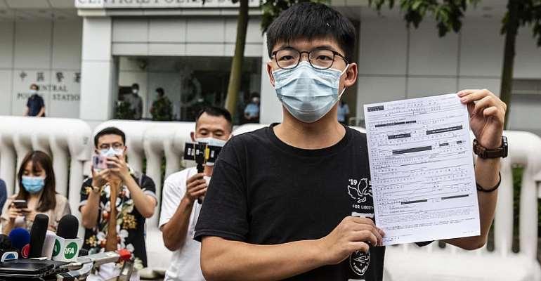 EU denounces 'troubling' arrest of Hong Kong activist Joshua Wong