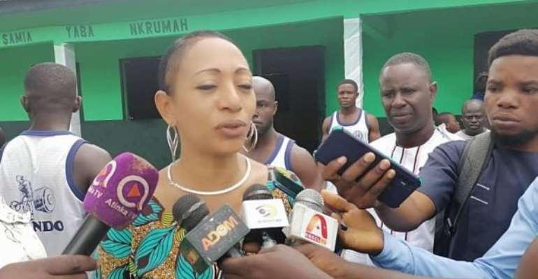 Samia Nkrumah builds classroom block in honour of her father in Jomoro