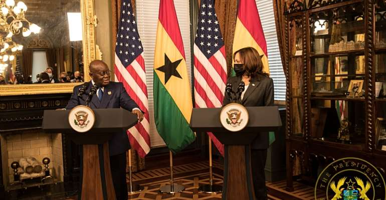 This is what Akufo-Addo and US Vice President Kamala Harris discussed