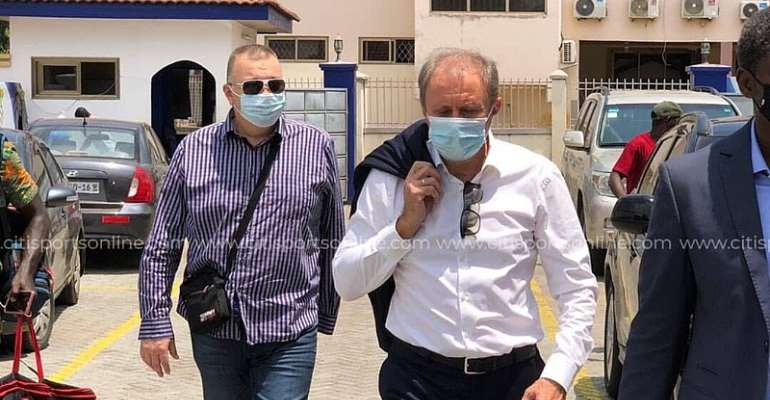 Milovan Rajevac arrives at GFA secretariat ahead of Black Stars appointment today