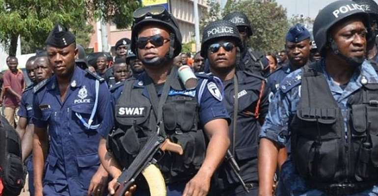 Police scale up security in Accra to hunt for heavily armed daylight robbers