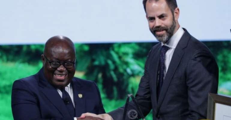 President Akufo-Addo (left)