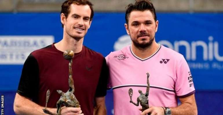 Murray and Wawrinka last met in October's European Open final in Antwerp, with the Scot winning to claim his first singles title since hip surgery
