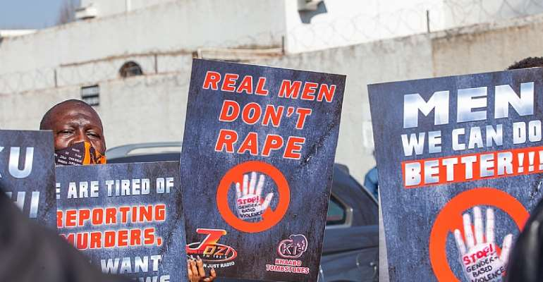 The country has one of the highest rates of rape in the world. - Source: Sharon Seretlo/Gallo Images via Getty Images