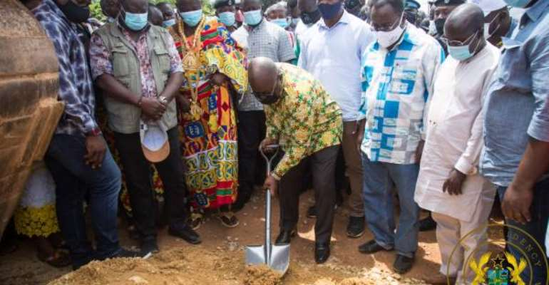 Akufo-Addo Cuts Sod For $116million Enchi-Elubo Road