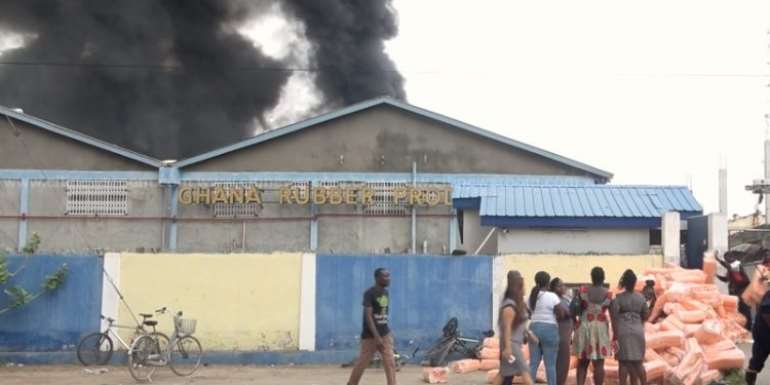 The fire outbreak at our storeroom will affect us; I doubt we'll get bonuses, goodies to enjoy Christmas — Ghana Rubber Company workers