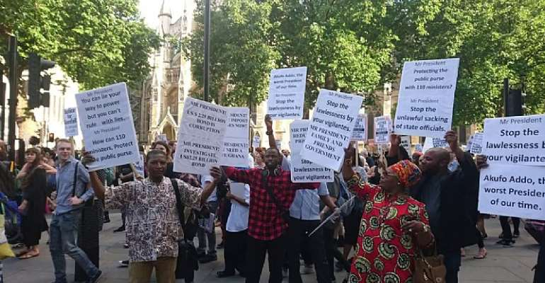 All-Ghanaian Demonstration Against Nana Akufo Addo In USA– Organizers' View
