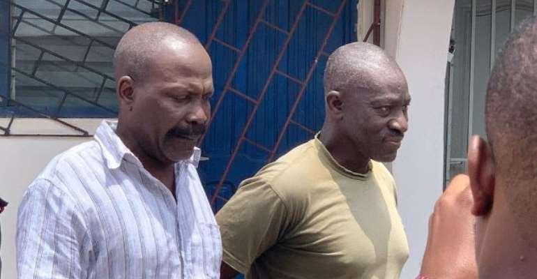 Colonel Samuel Kojo Gameli(L) and Gershon Akpa