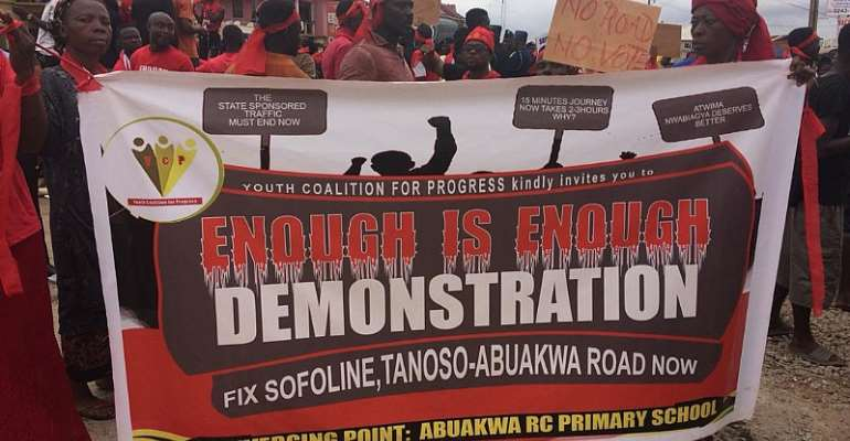 We'll Show You Where Power Lies If Our Roads Aren't Fixed Before 2020 – Abuakwa-Tanoso Residents To Gov't