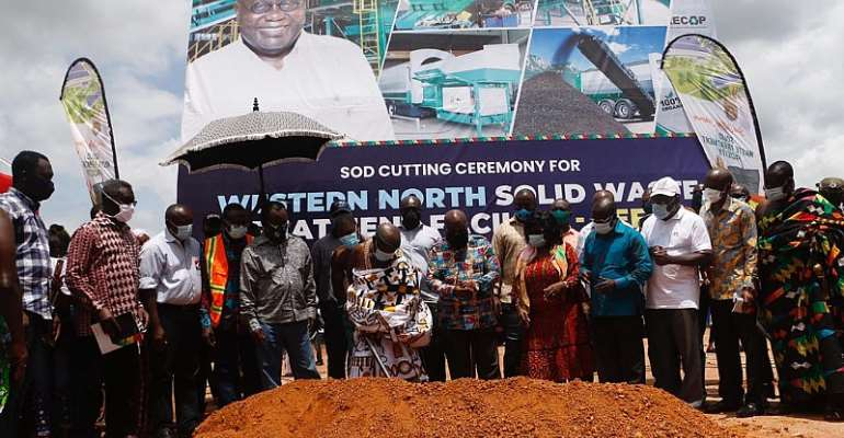 Akufo-Addo Cuts Sod At Aboanidua As Western North Gets Solid Waste Plant
