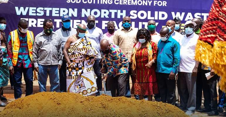 Akufo-Addo Cuts Sod For Recycling Plant At Aboanidua