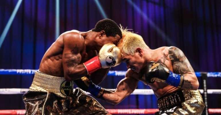 Pilipino John Riel Casimero Knocks Out Ghana's Duke Micah In Round 3