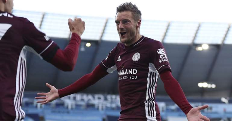 Jamie Vardy Stars With Hat-Trick For Leicester City In Big Win Against Manchester City