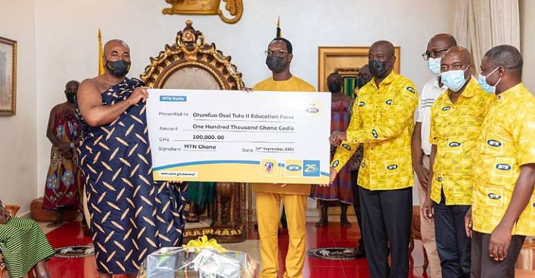 MTN Ghana donates Ghc100,000 to Otumfuor's Educational Fund