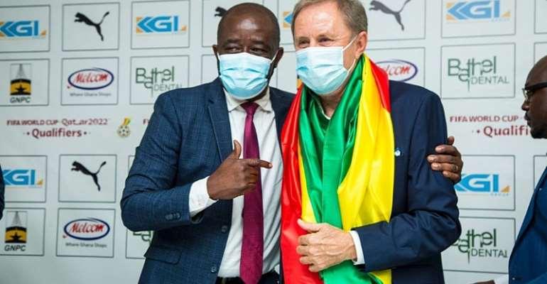 GFA boss and Milovan Rajevac