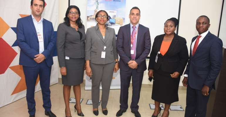 Officials of Aramex and Access Bank Ghana