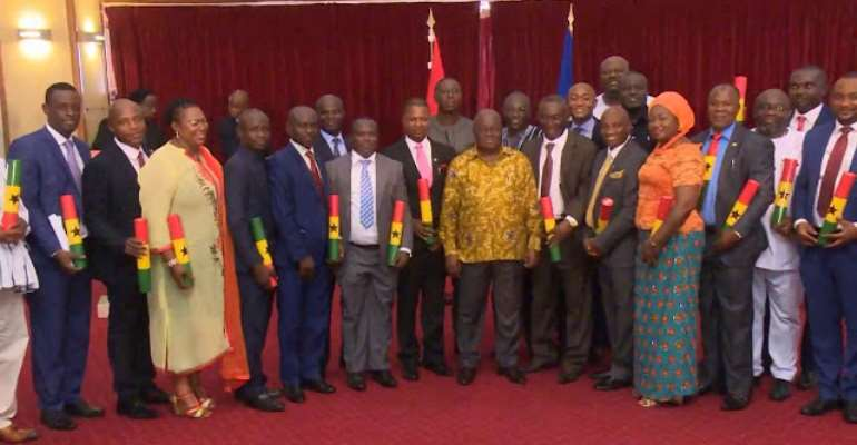 Ghanaian ministers under the cabinet of President Nana Akufo Addo – photo credit: Ghana media