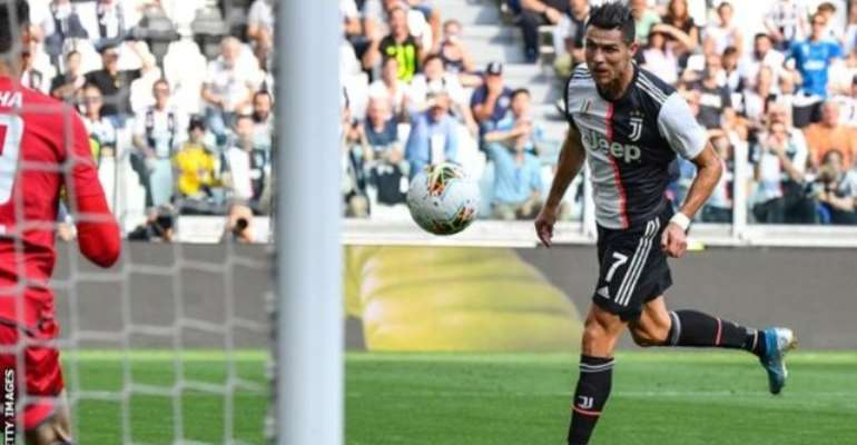 Ronaldo's Header Sends Juventus To The Top Of The League