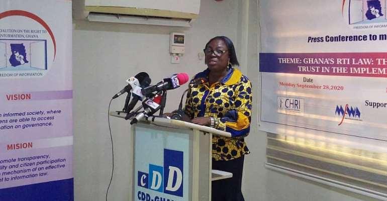 RTI Coalition vice-chairperson Mina Mensah