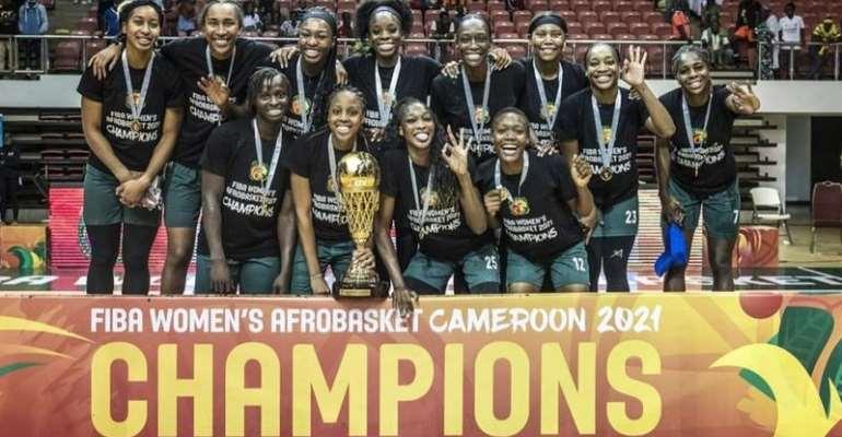 Nigeria's D'Tigress celebrate their third straight African title