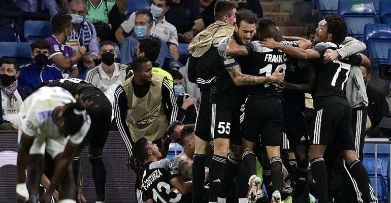 Champions League debutants FC Sheriff stun Real Madrid at Santiago Bernabeu