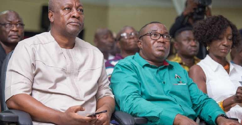 John Dramani Mahama [Left] with Samuel Ofosu Ampofo [Right
