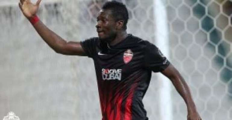 Asamoah Gyan: Black Stars skipper bags brace in Al Ahli 3-2 victory