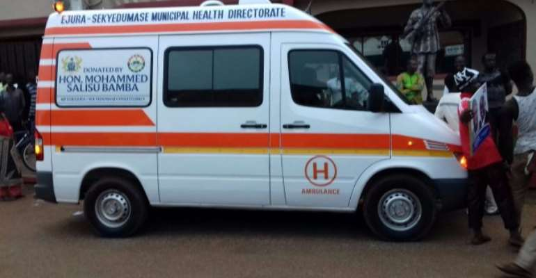 MP donates ambulance to Ejura-Sekyedumasi Health Directorate