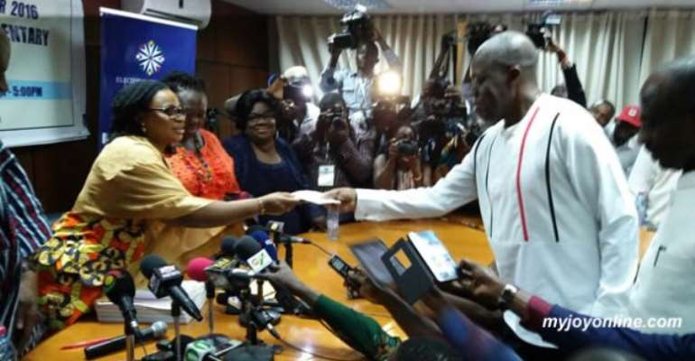 Amissah Arthur files President Mahama nomination forms