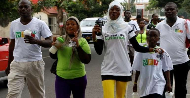 Herbalife Nutrition holds fitness walk to promote healthy lifestyles