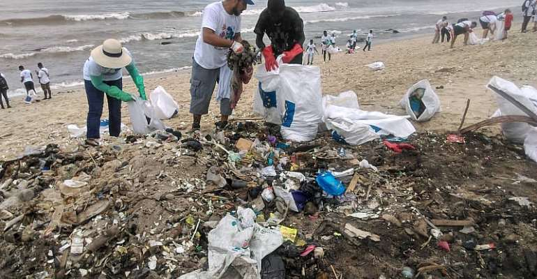 EU Clean Up  Jamestown Beach