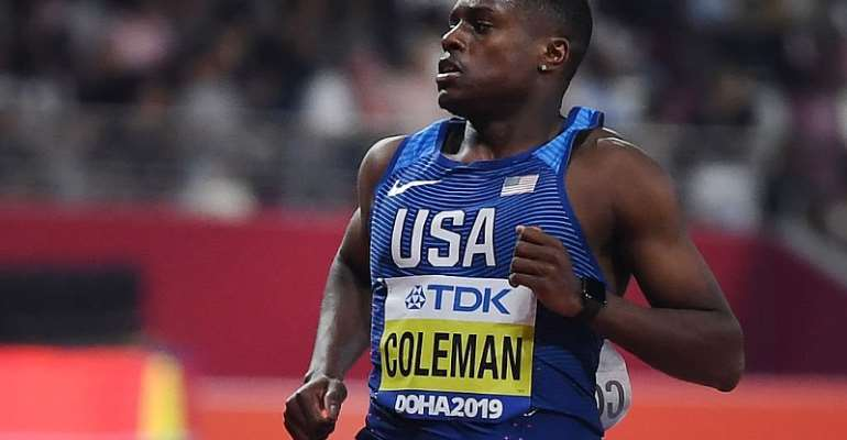 Doha 2019: Christian Coleman Wins Men's 100m Final