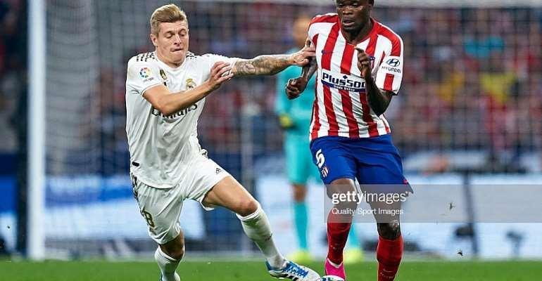 Thomas Partey Hails Atletico Madrid Teammates For Their Fighting Spirit In Madrid Derby