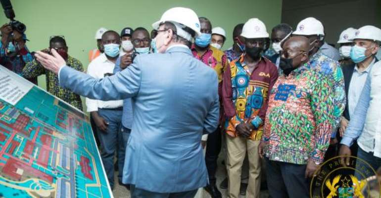 Akufo-Addo Inspects Work On 500-Bed Military Hospital; Kumasi Airport Project