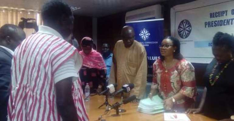 Dr Nduom files nomination papers with EC