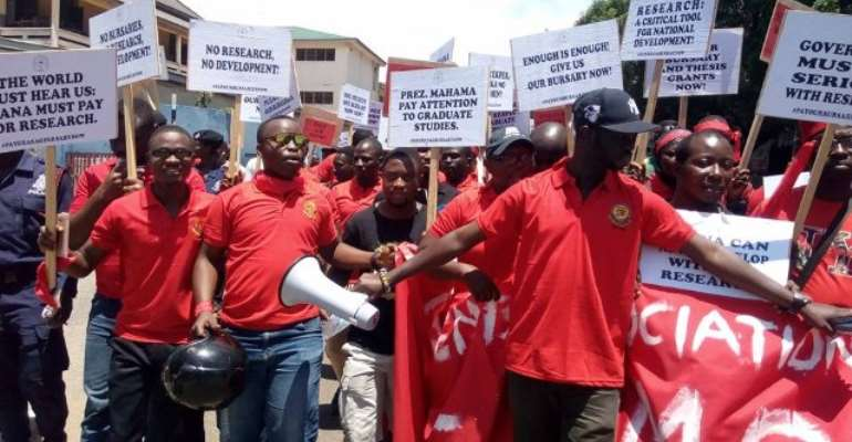 The charged graduate students