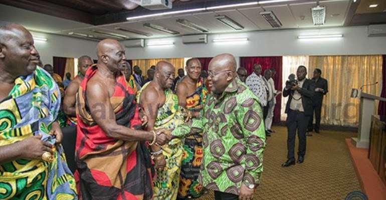 Chiefs Thank Nana Akufo-Addo For Social Interventions