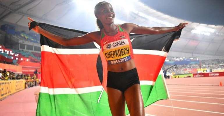 Doha 2019: Kenya's Chepkoech Powers To Women's Steeplechase Gold