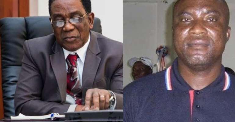 Prof. Kwesi Yankah and Hopeson Adorye
