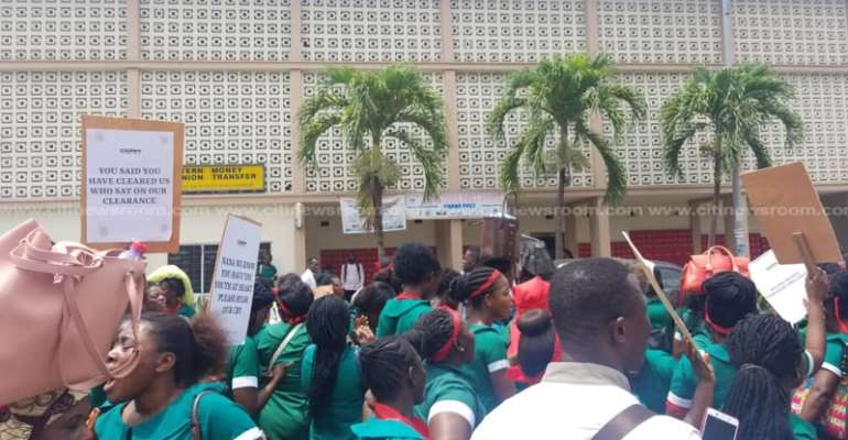 Unemployed Private Nurse Assistants Protest Over Non-Postings