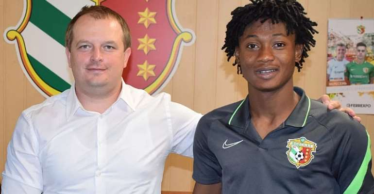 Ghanaian Youngster Najeeb Yakubu Pens 4-Year Contract Extension At FC Vorskla Poltava