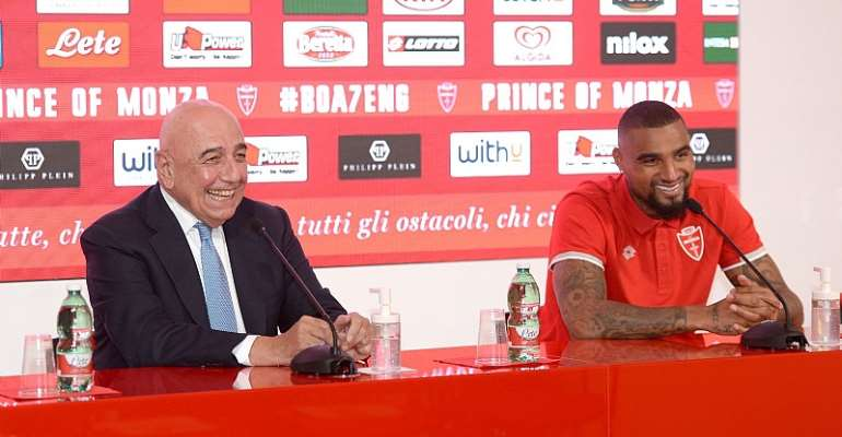 AC Monza Unveil New Signing Kevin Prince Boateng [Photos]