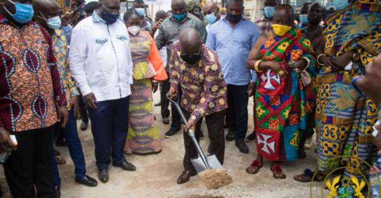Akufo-Addo Cuts Sod For Construction Of Kumasi-Obuasi Railway Line