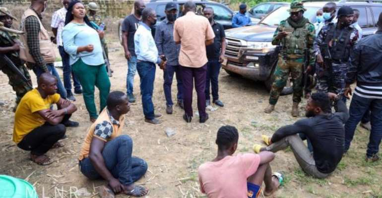Seven illegal miners remanded as Deputy Minister, taskforce storm galamsey sites