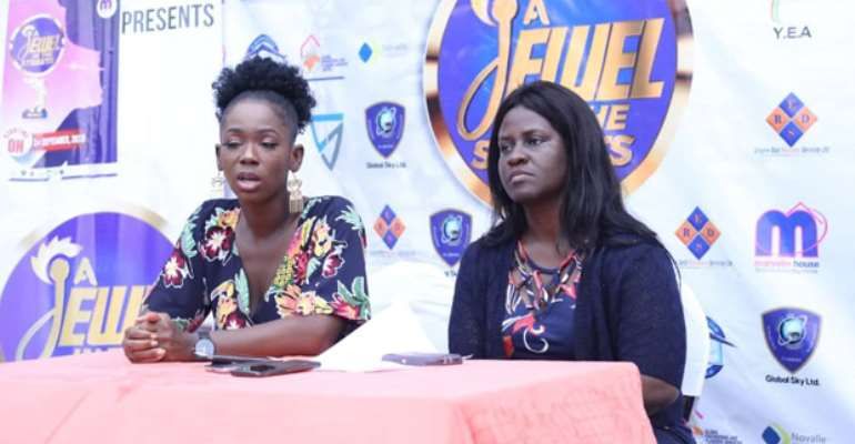 Ama K Abebrese (left) and Mavis Leonards at Saturday's event